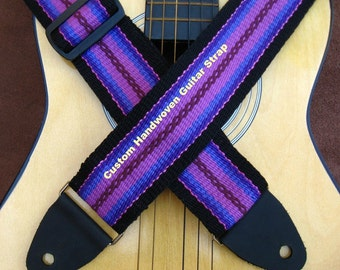 Custom Guitar Strap, You Design Your Own Handwoven Guitar Strap, Personalized, Customized, One of a Kind Guitar Strap
