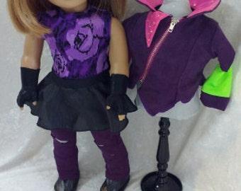 Disney Descendants Mal Costume for American Girl Doll