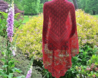 Knit Shawl Pattern ~ Renate's Shawl
