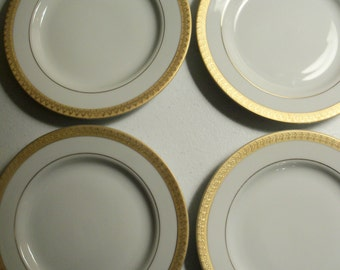 Gabbay Queen Victoria Set Of Four Salad Plates