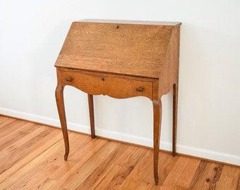 antique secretary antique desk oak desk writing desk gorgeous antique ...