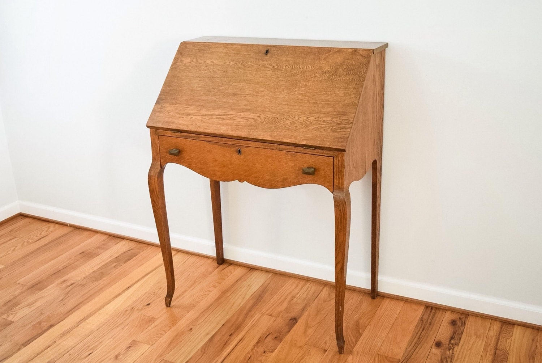 Antique Secretary Antique Desk Oak Desk Writing Desk