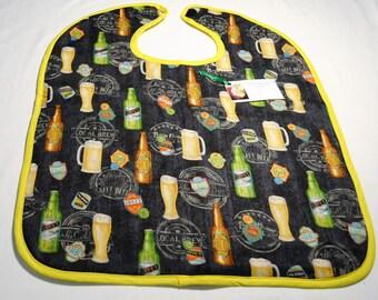 Man's Beer Reversible Adult Bib