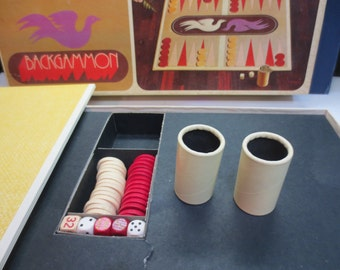 1975 Backgammon Game - Original Box & Parts