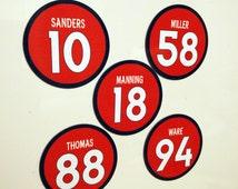 Denver Broncos Magnets feat: DeMarcus Ware, DeMaryius Thomas, Emmanuel Sanders, Von Miller, Peyton Manning