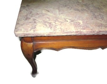 Beautiful 30%OFF, Vintage Marble Top Coffee Hand Crafted Wood