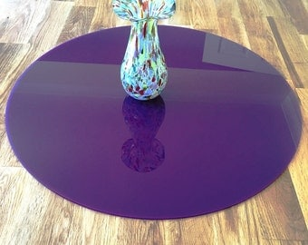 Round Worktop Saver in Purple Acrylic - 3 Sizes Available