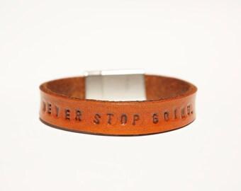 Personalized Leather Bracelet