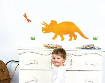 Triceratops Wall Decals Medium - Dinosaur Fabric Wall Decals