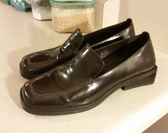 Cole Haan Studio Brown Patent Leather Loafer Shoes Size 6B  Made In Brazil
