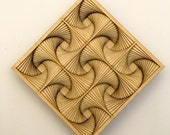 "Layered Wood: Wall Art (4"" x 4"")"