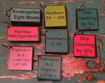 Kindergarten Bundle Dolch sight words pre primer numbers skip counting teacher made resource phonics math activity