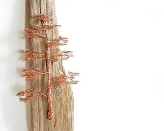 Wall Hanging Sculpture / Wire Tree Sculpture / Driftwood Hanging / Metal Sculpture / Wire Art / Driftwood Sculpture / Home Decor / Artwork