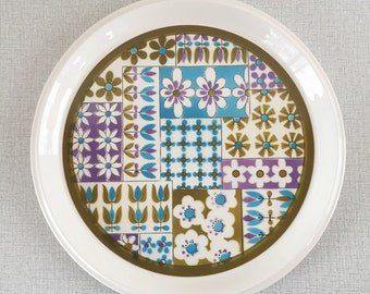 1960s MIKASA Light and Lively / Mod Flowers / Large Platter / Japan