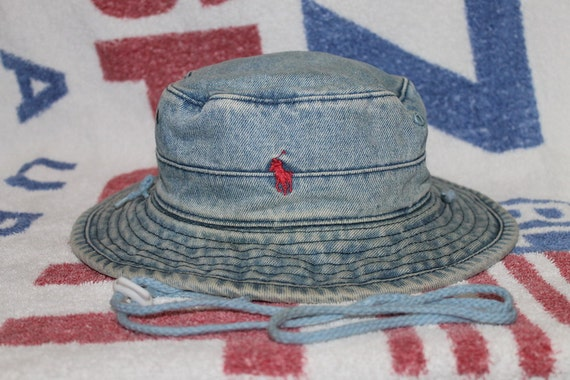 Vintage polo ralph lauren pony bucket hat jeans hunting for Polo fishing hat