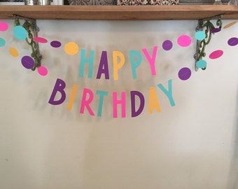 Happy Birthday confetti banner!