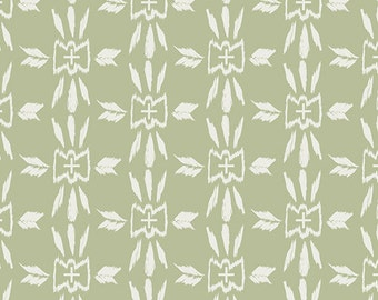 Homespun Willow in Woven, Observer One Yard cut fabric, Art Gallery fabric by the yard, April Rhodes, green fabric, modern Southwest, boho
