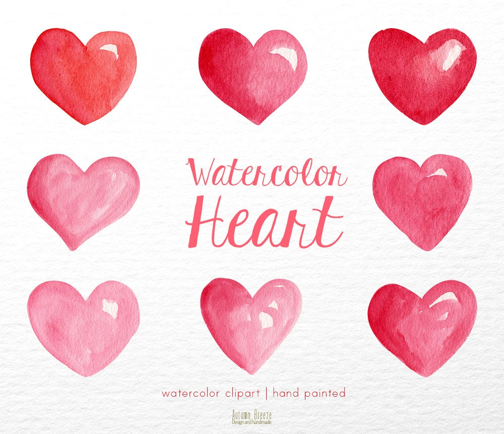 heart watercolor clipart heart clipart valentines day clipart