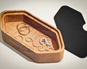 Wooden Jewelry Box- hexagonal shape