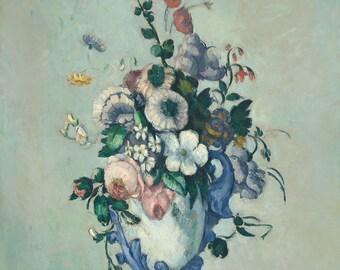 "Paul Cezanne : ""Flowers in a Rococo Vase"" (c. 1876) - Giclee Fine Art Print"