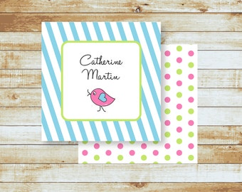 Personalized Calling Cards / Gift Tags / Kids / Love Bird