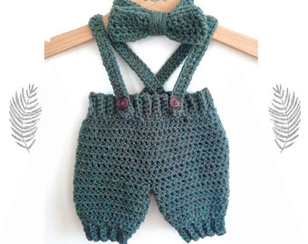 Crochet Pattern Baby Dungarees : Baby dungarees Etsy