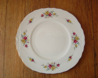 Crown Royal Cake Plate, Made in England, Bone China,VGC, Vintage.