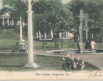 1907, Post Card View of The Casino, Roanoke, Virginia