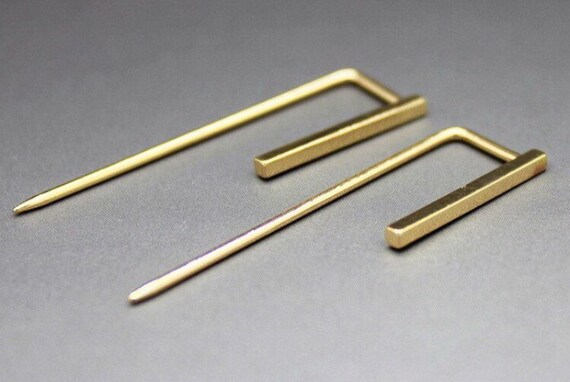 Gold bar retro new dangle earrings