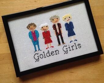 Golden Girls Cross Stitch Portrait