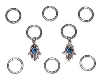 Hamsa & Evil Eye Hair Rings Hair Accessories