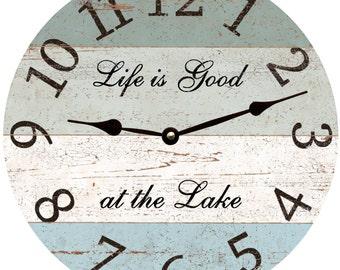 Four Color Lake Clock