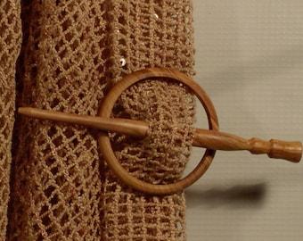 Wood Hair Pin/ Wood Hair Stick/ Olive Shawl Pin