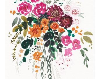 Boho Floral Arrangement Print