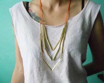 Chunky Arrow Brass Minimalist Necklace