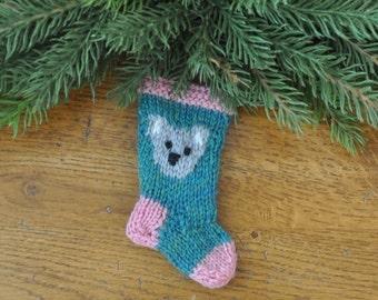 Koala Bear Hand-knit Christmas Stocking Ornament