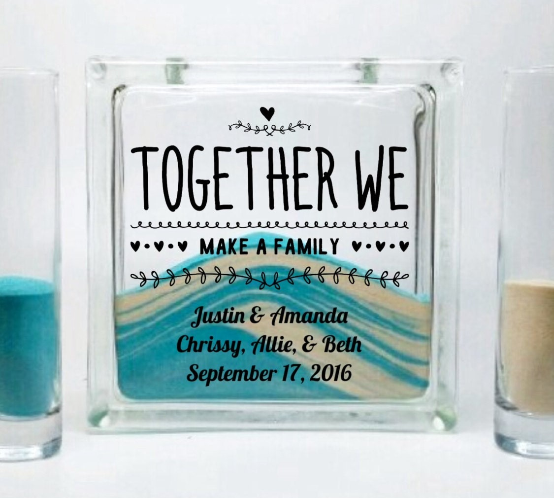 Sand Set For Blended Family Unity Candle Alternative