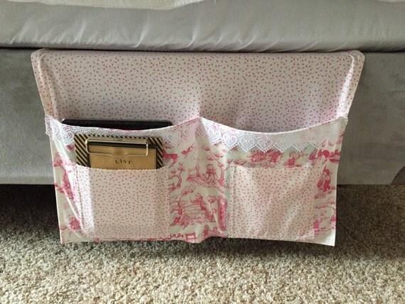 Girls Bedside Bed Caddy Bed Organizer Dorm Organizer Pink