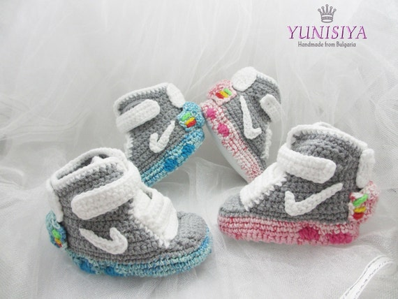 Crochet baby shoes Baby Booties crochet booties air mag