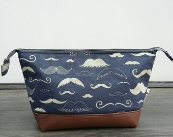 Moustache Man's Wash Bag