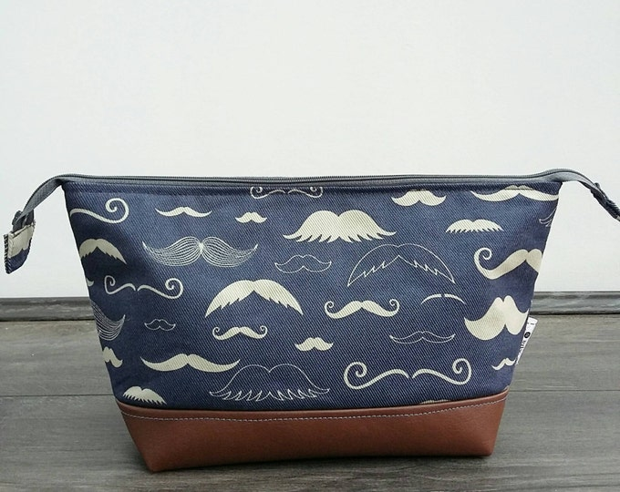 Featured listing image: Moustache Man's Wash Bag