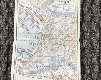 1911 Trieste [5.8 x 8.0 in.] Friuli-Venezia Giulia Region, Province of Trieste, Triest, Trst, Tergeste, Trieszt,Трст, Τεργέστη, Tergesti