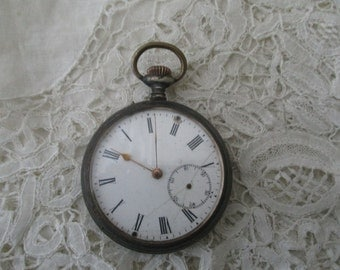 Antique pocket 1910 watch real silver restoration project
