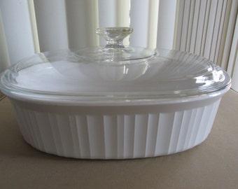 Corningware 2 1/2 QT Covered French White Casserole Dish