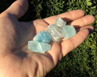 Aquamarine Crystals 5 stones shown