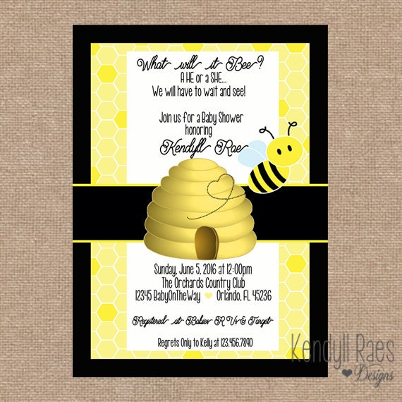 what will it bee baby shower invitation baby gender reveal
