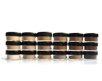 Foundation Sample Single 1 gram Jar Non GMO, Vegan, Non Nano Mineral Makeup with Fossil fuel free Pigments for All Skin Types