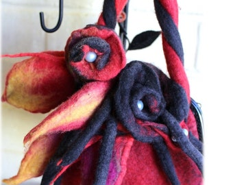 Firestorm hand felted bag