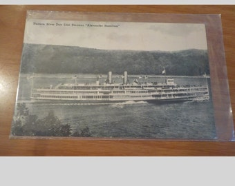 Vintage Original Hudson River Day Line Steamer Alexander Hamilton Postcard Free Shipping