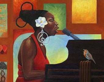 """Song Bird (Nina Simone) (11x14"""" Fine art Prints)"""